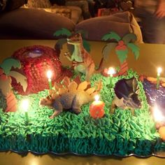 Dinosaur cake I made my daughter when she turned 6