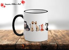 The Cats of Disney Mug - minimalist cats meow dinah cheshire aristocat lucifer cinderella gift disney present for her for him meow mug blue by LauraStitesArt on Etsy https://www.etsy.com/ie/listing/521063035/the-cats-of-disney-mug-minimalist-cats