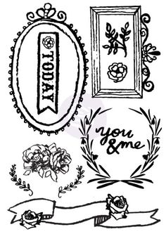 The Optimist ~ Cling Stamps (Large)