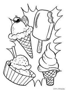 Free & Easy To Print Ice Cream Coloring Pages - Tulamama Ice Cream Coloring Pages, Free Kids Coloring Pages, Food Coloring Pages, Summer Coloring Pages, Abstract Coloring Pages, Coloring Sheets For Kids, Printable Adult Coloring Pages, Cartoon Coloring Pages, Flower Coloring Pages