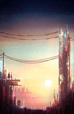 Tin Scott Uminga Scott Uminga Illustration Pinterest - City skylines turned into geometric metropolises by scott uminga