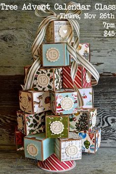 Tree Advent Calendar, Tiny Treat Boxes, Project Life Day to Day?
