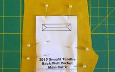Val Spiers Sews Doll Clothes: Single Welt Pockets for Doll Clothes FF20