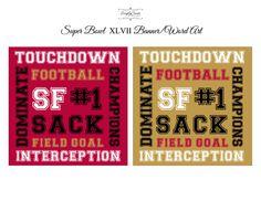 Super Bowl printables #49ers #subwayart