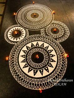 Beautiful Rangoli Designs Ideas for Gudi Padwa 2020 Rangoli Designs Latest, Simple Rangoli Designs Images, Rangoli Designs Flower, Rangoli Border Designs, Rangoli Ideas, Colorful Rangoli Designs, Rangoli Designs Diwali, Diwali Rangoli, Beautiful Rangoli Designs