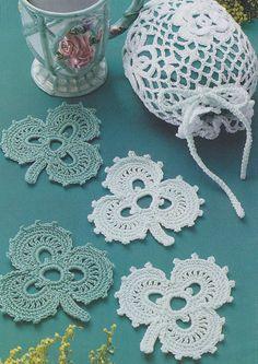 Shamrock Coasters Crochet Pattern - St. Patrick's Day Decor