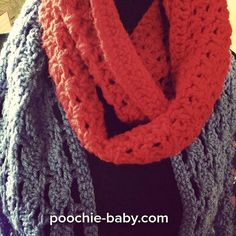 Crochet scarves. I wish it were that time of year in Texas! #poochiebaby