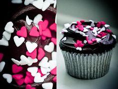 heart chocolate brownie