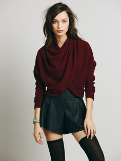 Free People Sugar Wrap Top. Variation on ballet wrap, would wear it with long black skirt or flares.