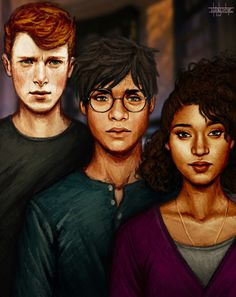 Is it just me, or does Ron look like Sidney Chambers?  peaceofseoul:  The Golden Trio!