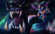 Gnar, art, characters, League of Legends