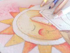 ☺️ #akvarell #illusztráció #magyarig #instahun   #hungarianbrand #ighun #cuteillustration #mutimitrajzolsz #pencilillustration #ikozosseg #nap #akvarel #illusztráció  #helloillustrator Nap, Digimon, Illustrator, Instagram, Illustrators