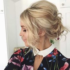 Simple, Messy & Teased Updo