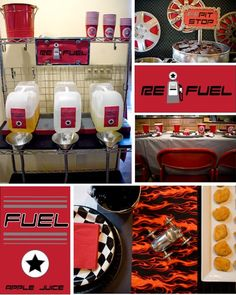 Race car party ideas...this blog is full of all sorts of great party ideas