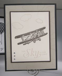 Card from my February class - Stampin' Up! Sky is The Limit SAB set