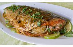 Thai Curry-Roasted Whole Salmon