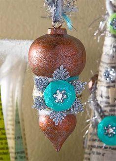 Decoupage - Winter Wonderland Snowflake Ornament