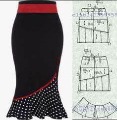 Dress Making Patterns, Skirt Patterns Sewing, Clothing Patterns, African Fashion Dresses, Fashion Outfits, Costura Fashion, Gown Pattern, Types Of Skirts, Sweet Dress
