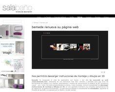 Publicación revista Sala Baño- Nueva página web de BEMEDE