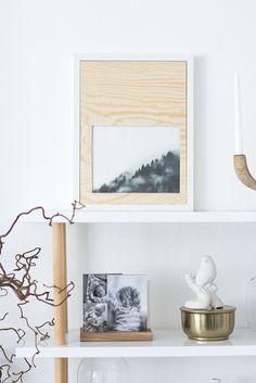 DIY gör en egen passepartout i trä