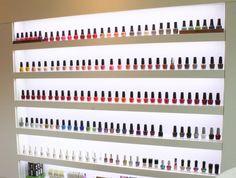 Nail polish display ideas
