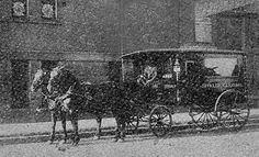 An 1800's Horse drawn Hearse (funeral coach)