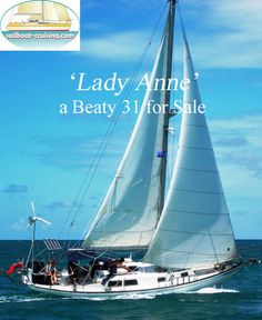'Lady Anne', a Sparkman & Stevens designed Beaty 31, is the prettiest boat in Rio Dulce. She's the ideal boat for cruising the Cayes in Belize. Shallow draft so she can go in and out of the Rio Dulce regardless of the tides and in and around the Cayes and lagoons in Belize, economical 3 cylinder diesel engine, solar panels so no noisy generators to keep the batteries charged, a fridge for the cold beers and a dream to sail. Used Sailboats For Sale, Sailboat Cruises, Generators, Diesel Engine, Shallow, Central America, Belize, Solar Panels, Sailing Ships