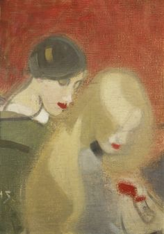 "artemisdreaming: ""Helene Schjerfbeck - The Family Heirloom "" Helene Schjerfbeck (July 1862 – January was a Finnish painter. She is most widely known for her realist works and. Female Painters, Art Painting, Eclectic Art, Painter, Painting, Illustration Art, Art, Abstract, Schjerfbeck"