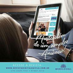 Na Revista D'Ávila temos parceiros! Pois além de aparecer em nossas lacunas de anúncio você ainda tem a possibilidade de mandar matérias para que sua empresa esteja sempre em evidência na Revista. Entre em contato conosco e seja nosso parceiro: 3329-7741 - 9.7407.2216
