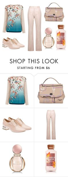 """""""Floral blouse"""" by subvilli ❤ liked on Polyvore featuring Oasis, Miu Miu, Valentino and Bulgari"""