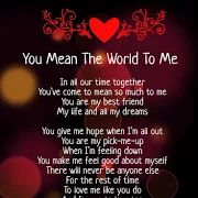 you mean the world to me poems