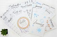 Don't need all 12 pages of the 2018 Yearly Planning Kit? Well, here's the Calendex and Future Log for 2018. This kit is 6 pages or 3 spreads. Who says you can't tell the future?