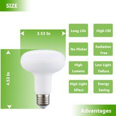 E26 Base 120V 75W Frost Type 900Lumen Studio Lighting Photography Light Bulb