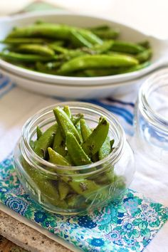 Easy Herbed Sugar Snap Peas by @Marla Meridith