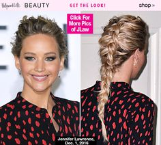 Jennifer Lawrence's Gorgeous French Braid At 'Passengers' Premiere — Get The Look