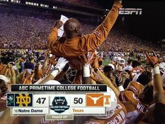 Postgame Celebration Thread: Texas- 50, Notre Dame- 47, 2OT - Barking Carnival