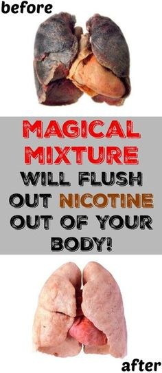 Flush Out #Nicotine Out Of Your Body!