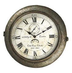 rustic industrial wall clock - Google Search