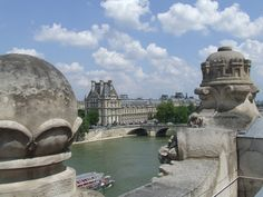 On the rooftop of the Musee d'Orsay. Beautiful museum.