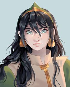 "Tadpole on Twitter: ""ATLA: Toph with her hair down :)… """