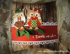 Adorable owls by Kathrin Lauter!