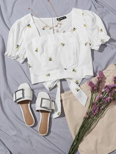Crop Top Outfits, Cute Casual Outfits, Simple Outfits, Pretty Outfits, Girls Fashion Clothes, Girl Fashion, Fashion Outfits, Mode Boho, Clothing Photography