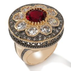 Ruby Red 2-tone Ring