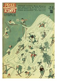 Cover of Przekrój magazine. Issue dated February 3,1950.
