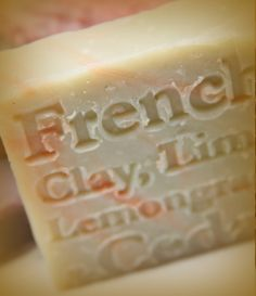 French clay, lime, lemongrass and cedar wood glycerine natural soap handmade with aromatic essential oils. Here's one for the boys! An rich aromatic scent that will leave all you boys out there smelling divine $5.00.