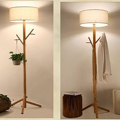 3 light floor lamp modern lamps walmart tree shaped white and table Coat Rack Bench, Diy Coat Rack, Wooden Coat Rack, Woodworking Jig Plans, Woodworking Projects Diy, Vintage Coat Rack, Diy Clothes Storage, Coat Tree, Wood Floor Lamp