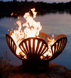 Handcrafted #Seashells And #Starfish Iron #Fire Pit