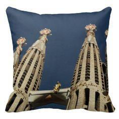 Barcelona Square Throw Pillow