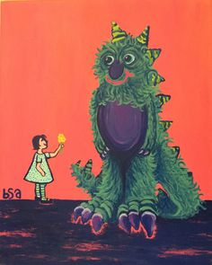 A personal favorite from my Etsy shop https://www.etsy.com/listing/214917135/my-monster-and-me