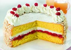 Ricetta Pan di Spagna con Farcia di Ricotta e Amarene - Granarolo Ricotta, Vanilla Cake, Oreo, Desserts, Pasta, Food, Tailgate Desserts, Deserts, Essen